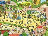 0,5m Jersey Zoo Nordhorn Wimmelbuch/Kinderstoff /