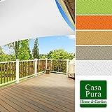 Voile d'ombrage casa pura® en coloris divers | matière imperméable - lavable en machine | taille 3x5m | densité 160g par m² | blanc