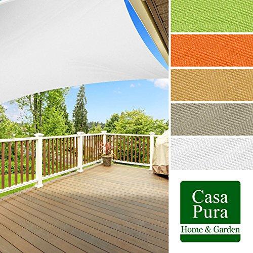 Voile d'ombrage casa pura® en coloris divers | matière imperméable - lavable en machine | taille 3x5m | densité 160g par m² | gris