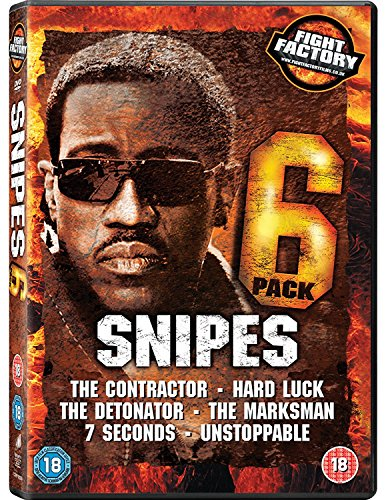 Wesley Snipes 6 Pack - The Contractor / Hard Luck / The Detonator / The Marksman / 7 Seconds / Unstoppable (6 Dvd) [Edizione: Regno Unito]