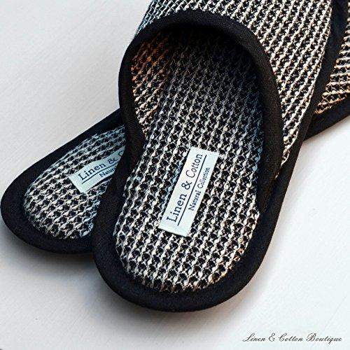 Uomo Linen TIGO Donna Cotton Lino Pantofole 100 Nero qqRSgWTnU