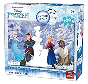 King 5807 Disney - Puzzle de Frozen (100 Piezas), Color Azul