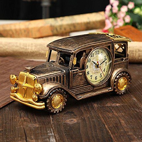Bluelover Simulation Oldtimer Wecker Multifunktionale Bleistift Vase Antik Auto Modell Kreative Dekor-Golden