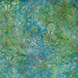 Fabric Freedom Türkis Blau Enigma Design 100% Baumwolle Bali Batik Tie Dye Muster Stoff für Patchwork, Quilten &,–(Preis Pro/Quarter Meter)