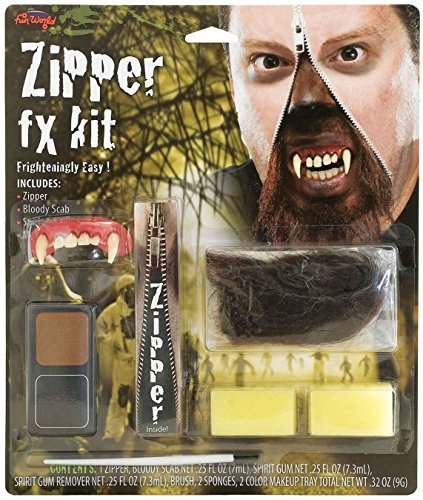 Deluxe Horror Halloween Make-up-Werwolf FX Reißverschluss Kit (Up Make Halloween Reißverschluss)