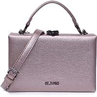 EVERMORE Clutch Bronze Abendtasche Damen Crossbody Bag Damen Klein Handtasche Handgelenktasche Frauen mit…