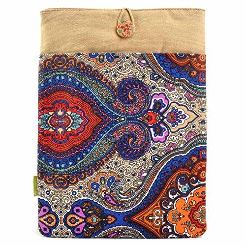 optasche Notebooktasche 34 x 23,5 cm (13 Zoll) Schutzhülle für Laptop Notebook/Design Tasche aus Stoff/blaues Designmuster 13