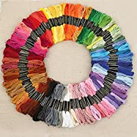 Brand New 100 x Mix Colors Cross Stitch Cotton Sewing Skeins Embroidery Thread Floss Kit
