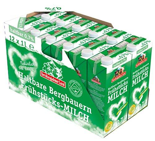 Berchtesgadener Land Haltbare Frühstücksmilch, 0.7% Fett, 12er Pack (12 x 1 l)