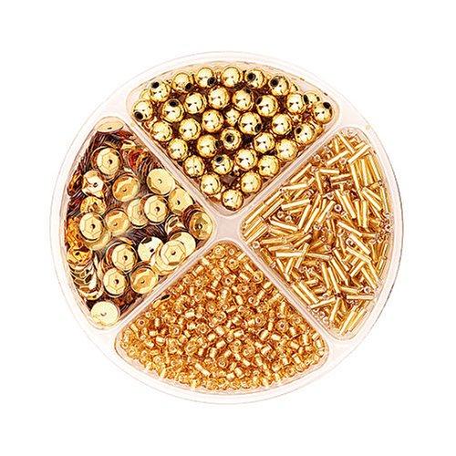 Imagen principal de Gütermann / KnorrPrandell 6116760 - Juego de cuentas para hacer joyas (30 g), color dorado [importado de Alemania]