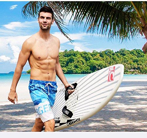 Lantra Besa CSM0016 Wasserabweisend Schnelltrocknend Herren Männer Badehose Badeshorts Knielang Boardshorts Beach Shorts für Wassersport im Sommer Blau