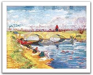 Puzzle 500 pièces - Puzzle en Plastique - Vincent Van Gogh : Pont de Gleize près d'Arles