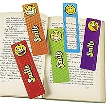 Smiley Lesezeichen mit 4 verschiedenen Motiven 24 Stück Palandi®