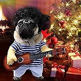 Idefair Costumi divertenti per cani e chitarre Abbigliamento per cani per cucciolo piccolo cane medi