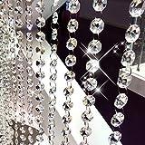 Fushing 10 Piezas 305mm De Ornamento De Hilos De Colgantes Cristales Octagonales Para Guirnaldas De Árboles De Decoración De La Boda De Navidad
