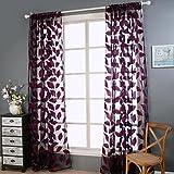 Best Leaf Curtains - Window Curtain , Ouneed 2pcs Fashion Print Leaf Review