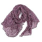 OverDose Schal, Damen Stern Druck Muster langer Schal warmer Verpackungs Schal Halstuch Tücher Schlauchschal