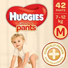 Huggies Ultra Soft Pants Medium Size Premium Diapers (42 Counts)