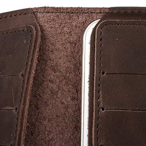 Étui portefeuille en cuir véritable pour Xolo A700s/One Housse noir - noir Marron - marron