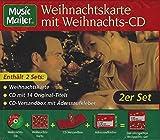 Weihnachtskarte mit Weihnachts-CD (CD-Versandbox mit Adressaufkleber)