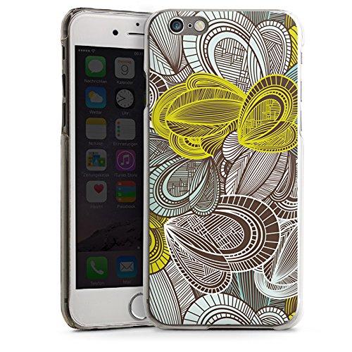 Apple iPhone 5s Housse étui coque protection Motif Motif Feuilles CasDur transparent
