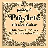 D\'Addario Corde seule en nylon pour guitare classique D\'Addario Pro-Arte J4304, Light, quatrième corde
