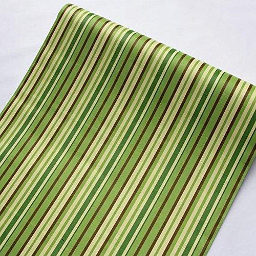 lovefaye Abziehen & Aufkleben Regalen herausnehmbarer Kontakt Papier zum abdecken Wohnungs Old Schränke Schubladen, grün Streifen, 45cm von 9.8Füße - Regal Schubladen Streifen