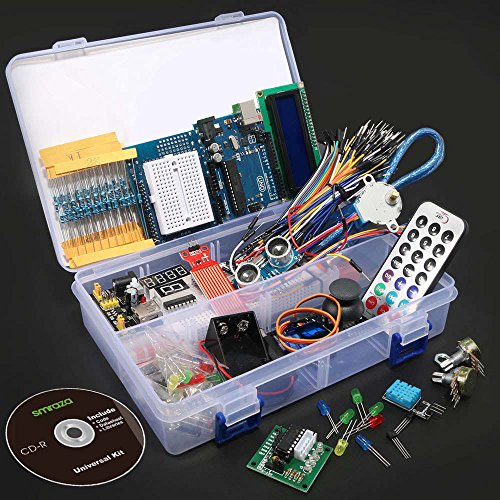 617WETmjK4L - Smraza Ultimate UNO Project Starter Kit with Stepper Motor, Servo Motor, UNO R3 Board and Ultrasonic Sensor for Arduino UNO R3 Mega2560 NANO(26 Projects)