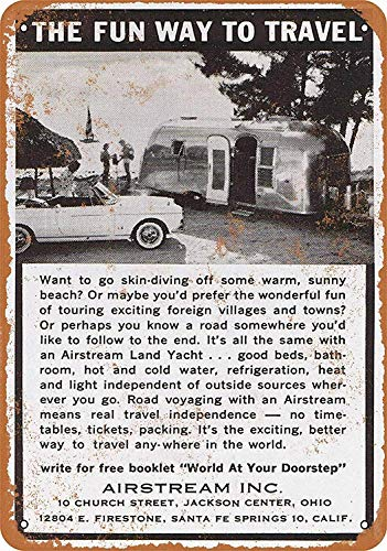 Wise Degree Metal Poster 1963 Airstream Trailers Metall Poster Wand Küche Kunst Cafe Garage Shop Bar Dekoration