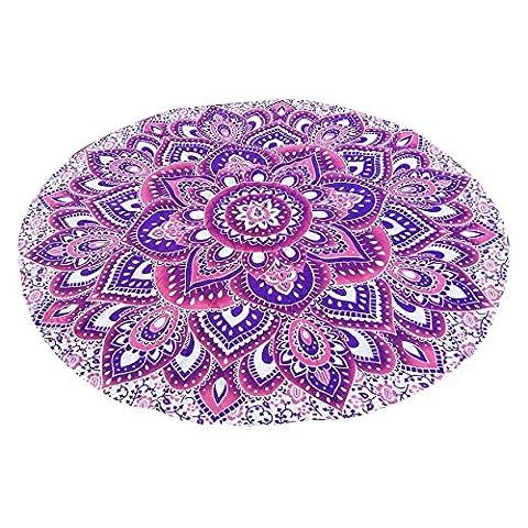 100% Baumwolle große runde Lotus Blume Mandala Tapisserie Outdoor Strand Roundie Hippie Zigeuner Boho Wurf Handtuch Tischdecke hängende Blumen rosa lila Lotus Form