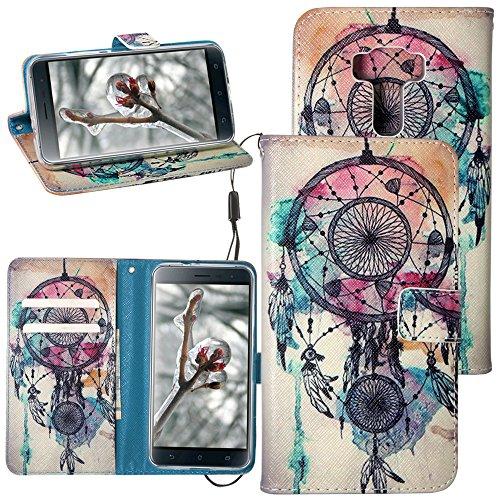 Preisvergleich Produktbild Dooki ZE520KL Handyhülle Standfunktion Klappetui PU-Leder Schutzhülle für Asus Zenfone 3ZE520KL 5.2mit Kreditkarten-Einschübe B-04