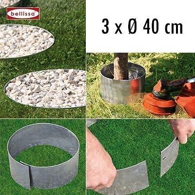 3-er Set Rasenkante Kreis Ø 40 cm H. 13 cm 10099 von bellissa bei Du und dein Garten