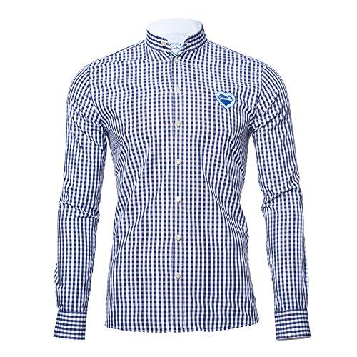 GaudiHerz - Trachtenhemd in dunkelblau (S)
