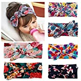 #2: Pack of 6 Baby Headbands Turban Knotted, Girl's Hairbands for Newborn,Toddler and Childrens