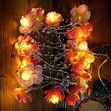 20LED-künstliche Blumen Perlen-Lichterkette, Beleuchtung, Dekoration im Innenbereich für Party Festival rose
