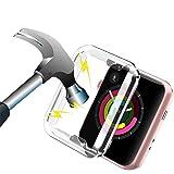 Funda Reloj Apple Watch 38mm Transparente,Apple Watch Series 3 Funda Protector de Pantalla Completo TPU Suave Ultra Delgado P