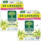 L'arbre vert Lessive Poudre 1 kg 20 Lavages - Lot de 2