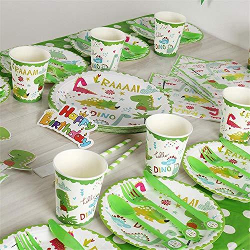 12-teilig Party Dekoration Appliance Geburtstag Party Dinosaurier Themen Liefert Banner Dekoration Hintergrund Tischdecken Für Jungen Mädchen Kleinkinder Baby Geburtstag (Für Party-themen Kleinkind-jungen)
