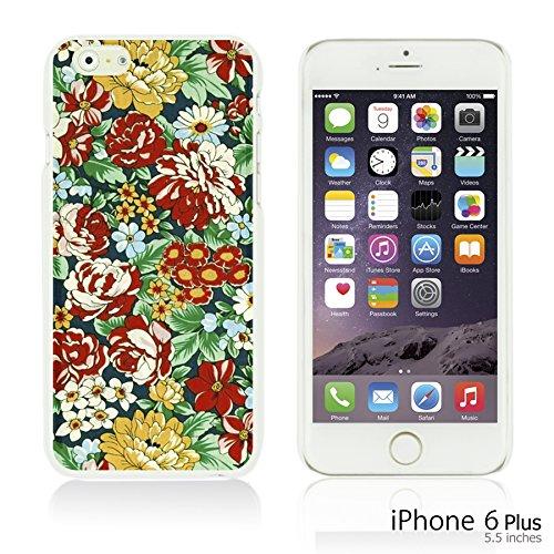 OBiDi - Flower Pattern Hardback Case / Housse pour Apple iPhone 6 Plus / 6S Plus (5.5)Smartphone - Colorful Floral Art Paint Retro Floral Print