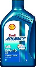 Shell Advance AX7 550042982 10W-40 API SM Synthetic Technology Motorbike Engine Oil (1 L)