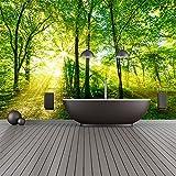 azutura Grüne Bäume Wandbild Wald Natur Foto-Tapete Wohnzimmer Schlafzimmer Dekor Erhältlich in 8 Größen XXX-Groß Digital