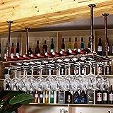 LBYMYB Barres, Tables de Bar, Verres à vin, Porte-gobelets, Porte-gobelets inversés de Haute qualité Casier à vin (Couleur : Bronze, Taille : 150cm)