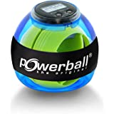 Powerball Basic Counter, gyroscopische handtrainer incl. snelheidsmeter, transparant blauw, het origineel van Kernpower