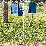 4 Royal portátil brazo de aluminio de tendedero tender ropa para acampada Caravan