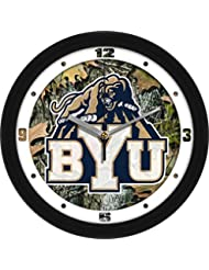 Brigham Young Cougars BYU NCAA 12In Camo Wall Clock by Links Walker