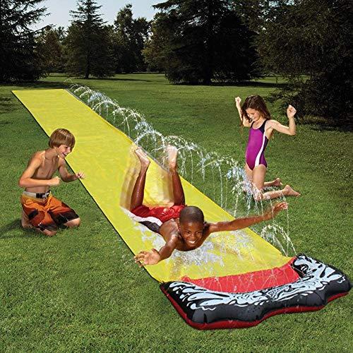 Hete-supply Wasserrutsche Schlauchboote für Kinder Erwachsene Hinterhof   Wassersport Riesenwasserrutschen   Sommer Wasser Spielzeug Outdoor Gras Wasser Spray Slip Sheets Surfbrett Garten Spielzeug -