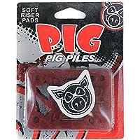 Pig Piles–Tabla de skate (elevadores almohadillas para los golpes suave Rojo