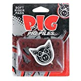 Pig Piles Skateboard Risers Soft Shock Pads Red