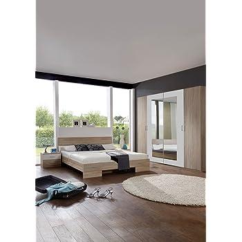 schlafzimmer set advantage ii komplett bett nachtschr nke eiche s gerau abs weiss. Black Bedroom Furniture Sets. Home Design Ideas