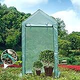 Yorbay Serre de Jardin Tente pour Plantes Fleurs Bâche renforcée en PE 140 g/m² - 100×50×190cm